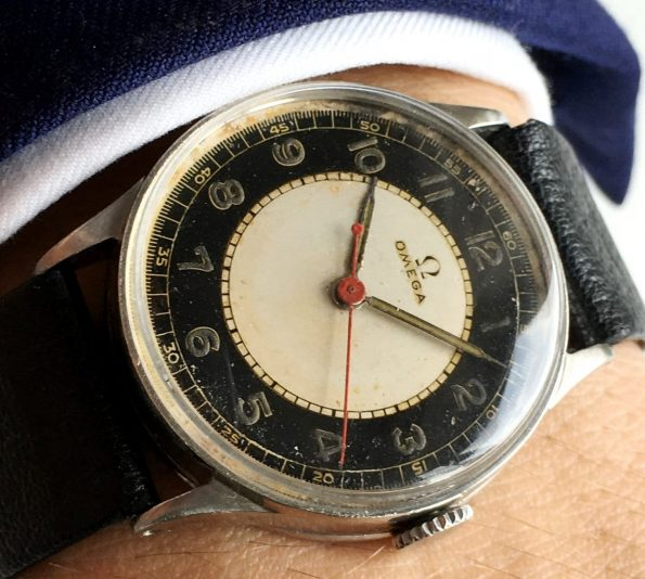 Early Omega Medicus Doctors Watch with Two Tone Scientific dial