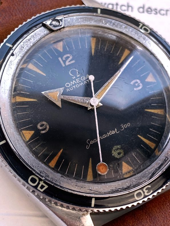 Omega Seamaster 300 Vintage ref 2913-3 Diver Broad Arrow Lollipop CK 2913 Extract Automatik