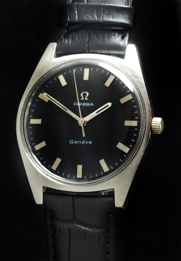 Serviced Omega Geneve with black dial
