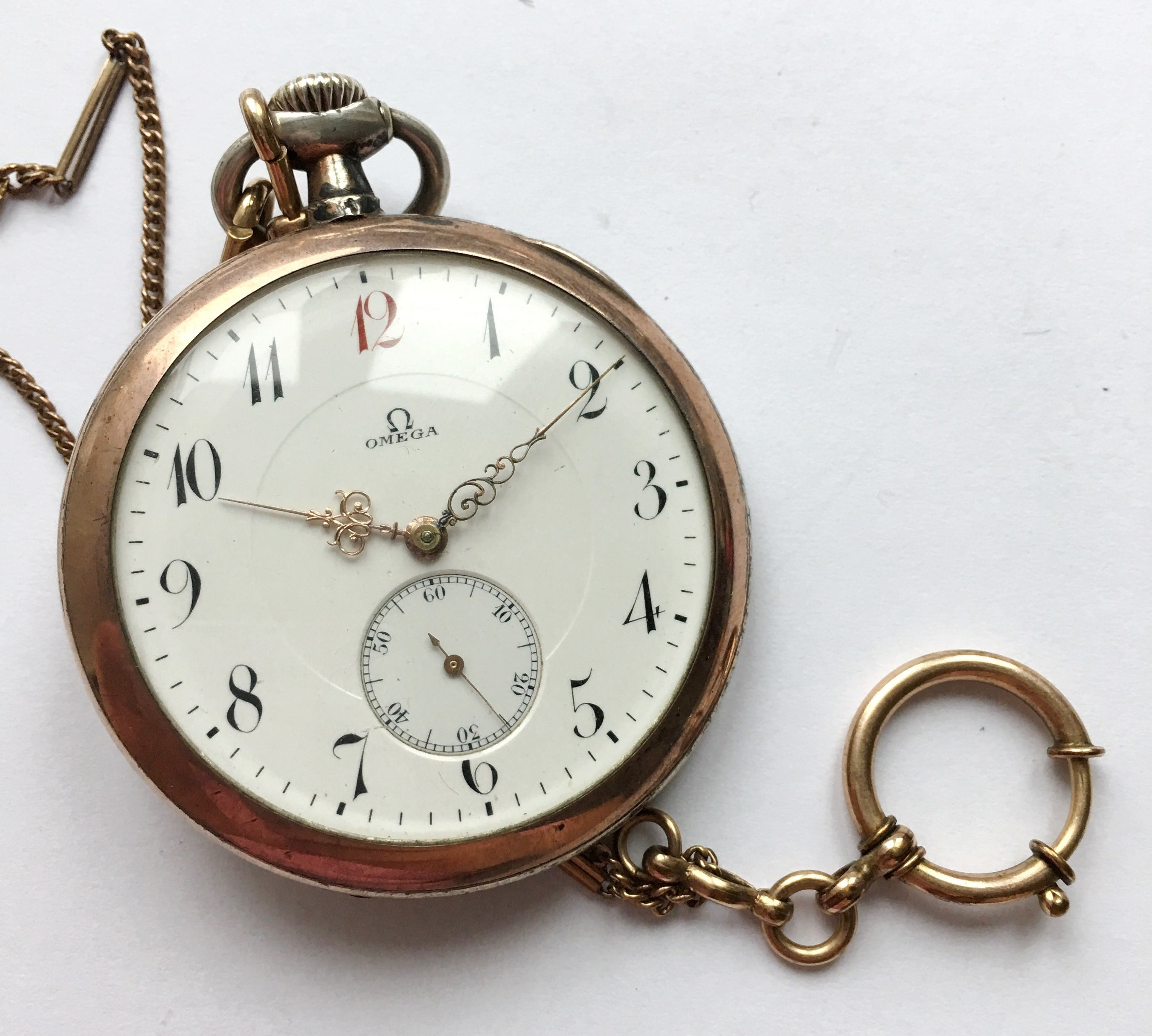 rose vintage tasch portfolio gold silver pocket watch watches shop omega plated