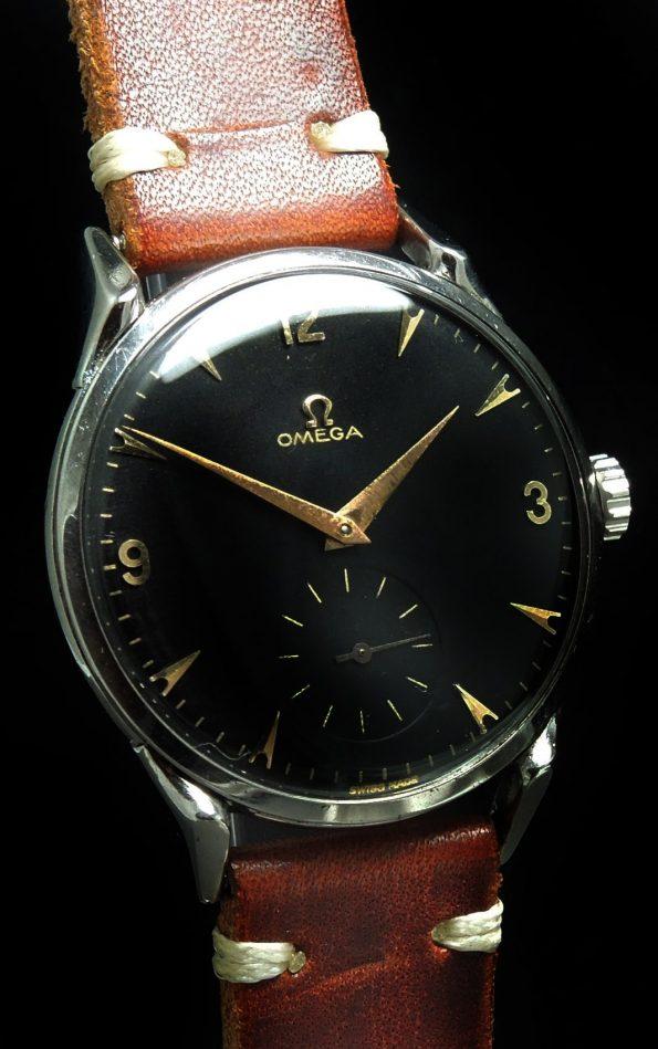 Wonderful Omega 38mm Oversize Jumbo black dial Crab Lugs
