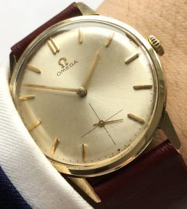 Serviced Omega Solid Gold Vintage
