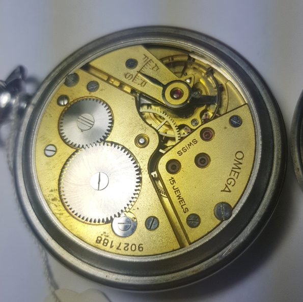 Serviced Omega Pocket Watch Bullseye Dial