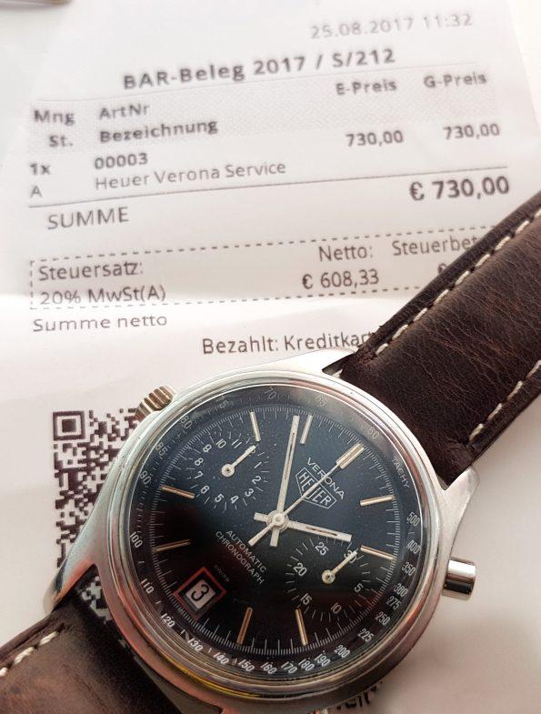 Serviced Heuer Verona Automatic Chronograph Vintage