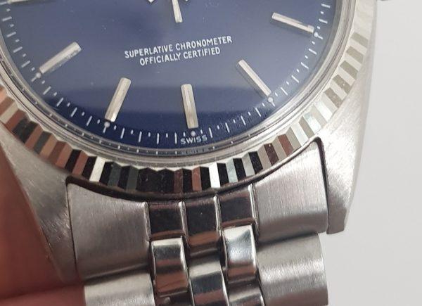 Serviced Rolex Datejust Automatic blue dial Vintage