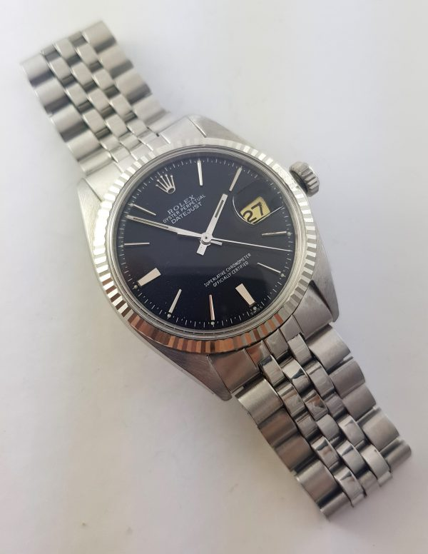 Serviced Rolex Datejust Automatic black dial Vintage