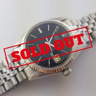 Serviced Rolex Datejust Automatic black dial Vintage