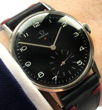 [:en]700euro Serviced Omega 37mm Oversize Jumbo Vintage Black Dial[:de]700euro Serviced Omega 37mm Oversize Jumbo Vintage Schwarzes ZB[:]