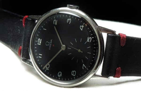Great Omega 37mm Oversize Jumbo Vintage Black Dial