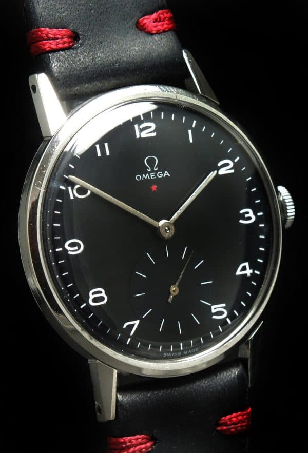 700euro Serviced Omega 37mm Oversize Jumbo Vintage Black Dial