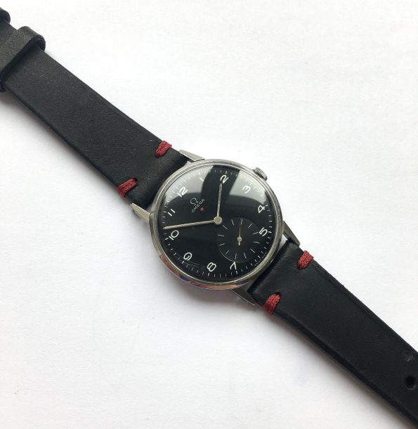 700euro Serviced Omega 37mm Oversize Jumbo Vintage Black Dial