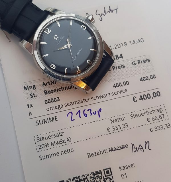 Omega Seamaster Automatic Steel black dial