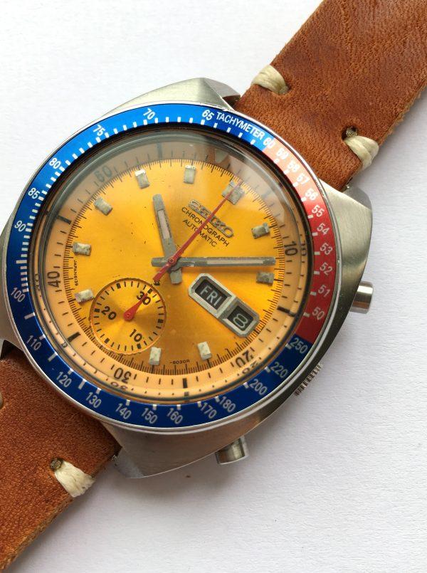 Genuine Seiko Pepsi Chronograph Automatic