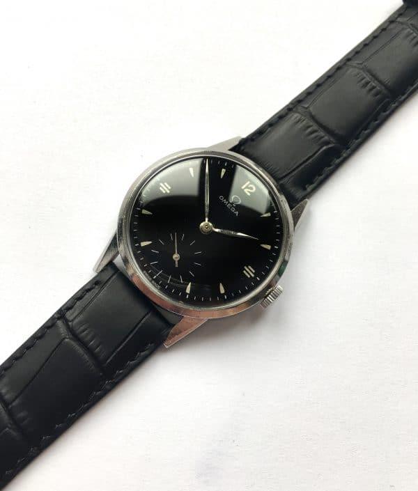 Serviced Omega Handwinding Watch cal 265 Black Dial 1947