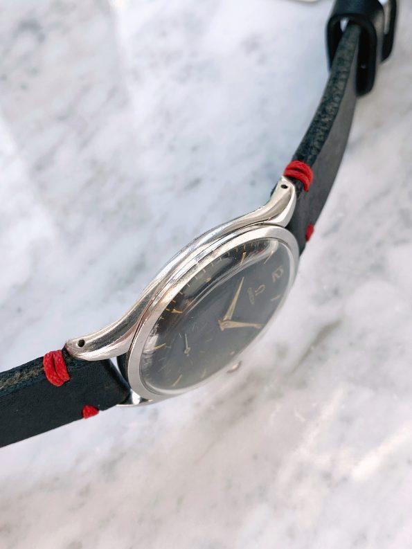 Serviced Vintage Omega Oversize Jumbo Black Restored Dial ref 2505 Caseback damage