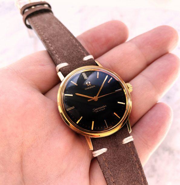 Omega Seamaster Pre De Ville Handwinding Vintage Black Restored Dial