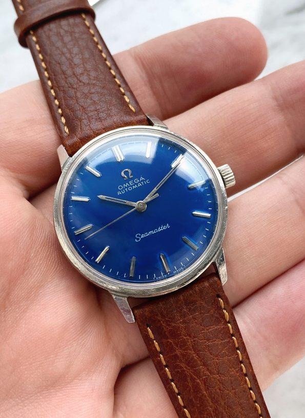 Customized Omega Seamaster Automatic Vintage Custom Blue Restored Dial 166.002