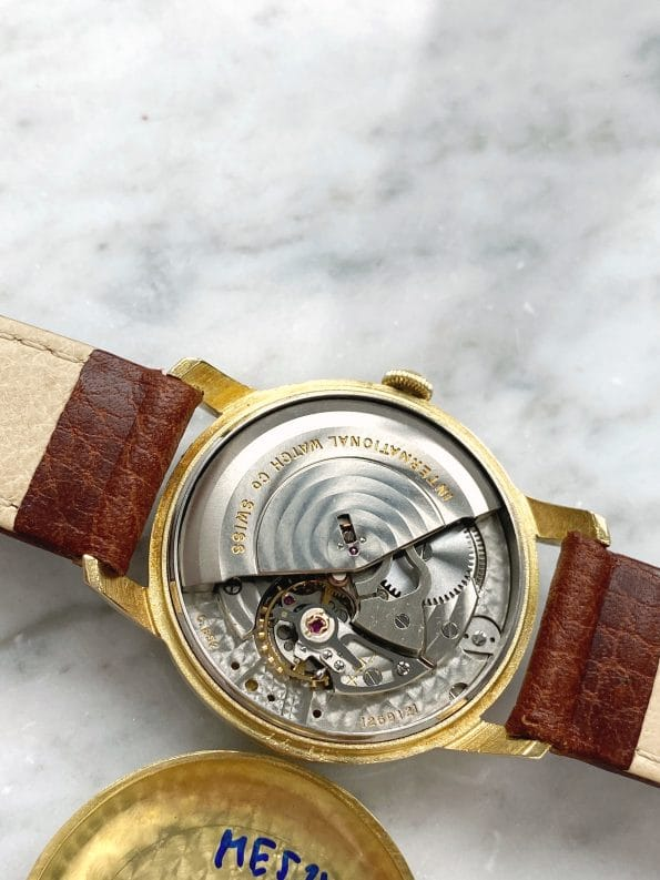 Serviced Vintage IWC Automatic Solid 18ct Gold 34mm