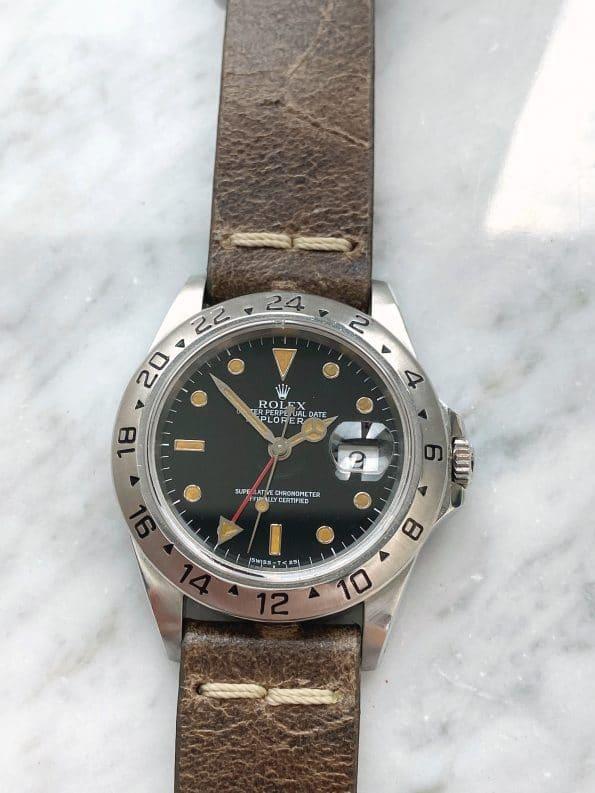 Vintage Rolex Explorer 2 GMT Automatic Black Dial Custard Lume
