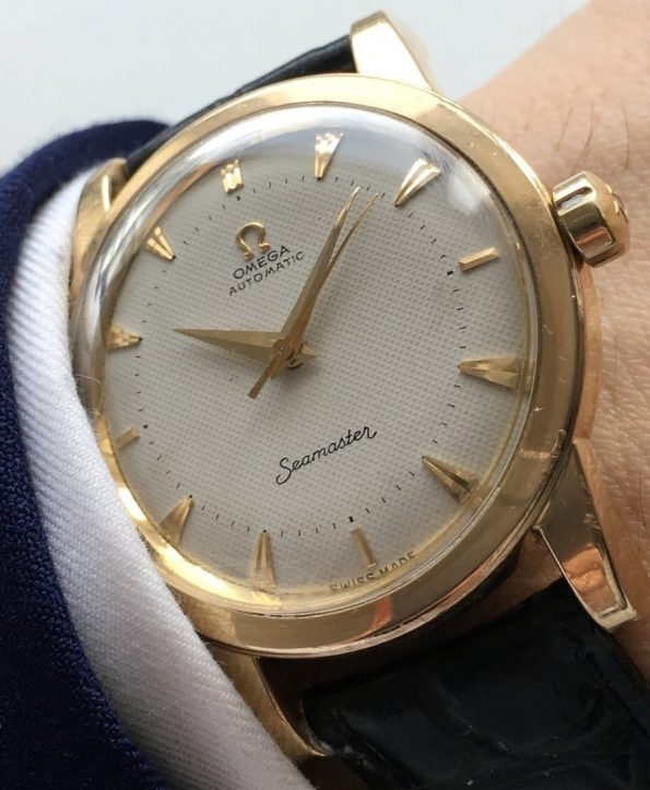 Serviced Omega Seamaster Automatic with Honeycomb dial