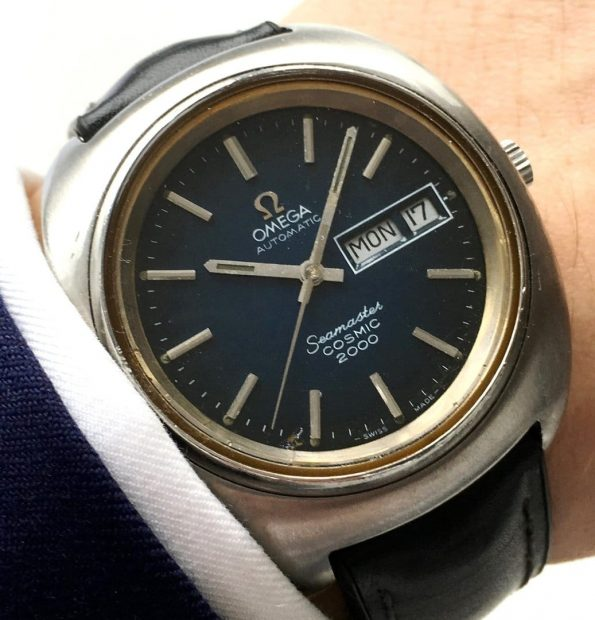 39mm Omega Seamaster Cosmic 2000 with blue spider dial Day Date