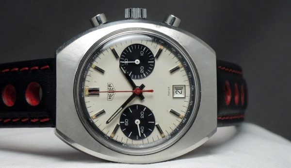 Serviced Wonderful Vintage Heuer Chronograph Panda dial