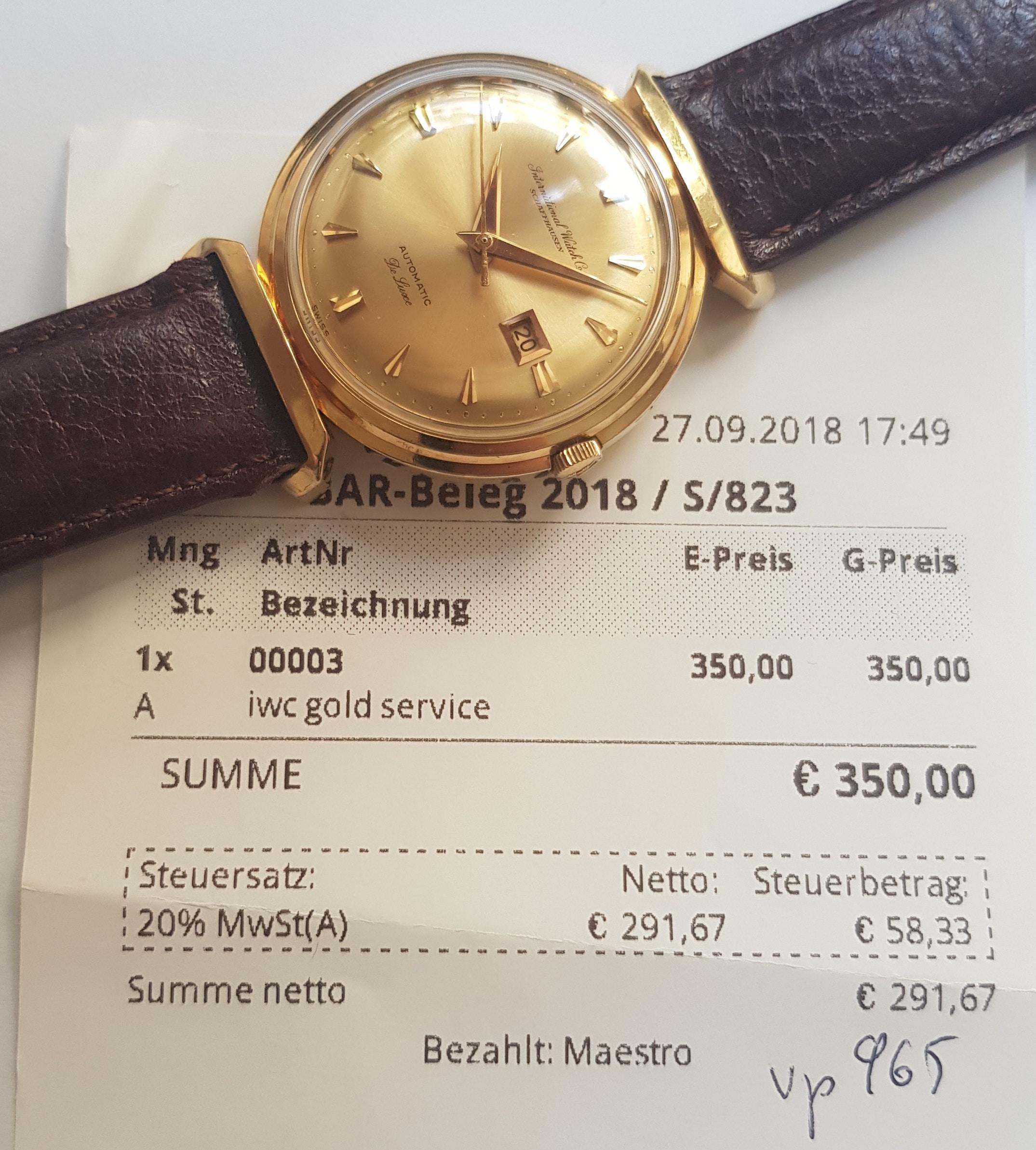 schaffhausen uhren gold