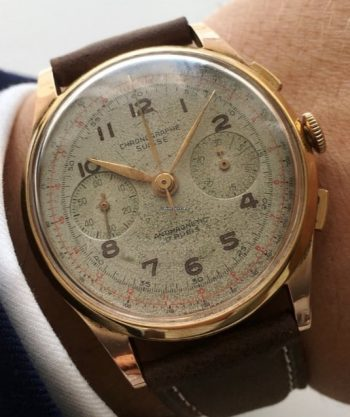 Chronograph Suisse Chrono in 18 carat solid pink gold´Vintage 38mm
