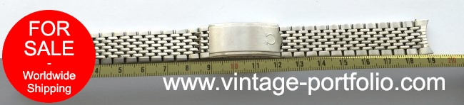 Original Omega Strap 18mm, Seamaster Constellation, Beeds of Rice