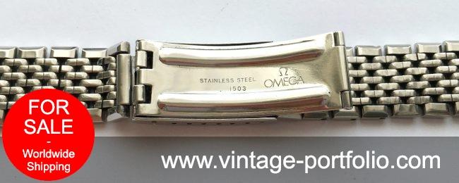 Original Omega Strap 18mm, Seamaster Constellation, Beeds of Rice