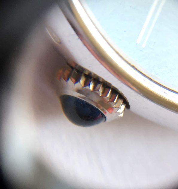 Baume Mercier Baumatic Automatic White Gold black dial Vintage