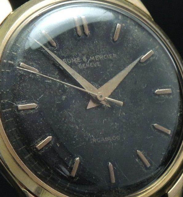 Black dialed Baume Mercier Vintage Watch