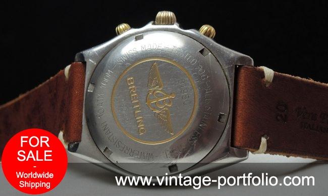 Serviced Breitling Chronomat Automatic blue dial Vintage
