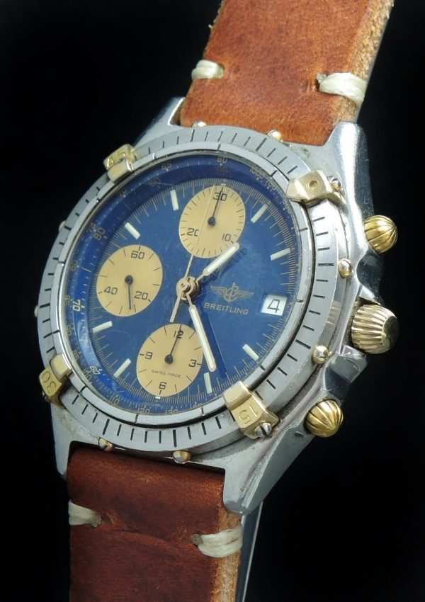 Serviced Breitling Chronomat Automatic blue dial Vintage