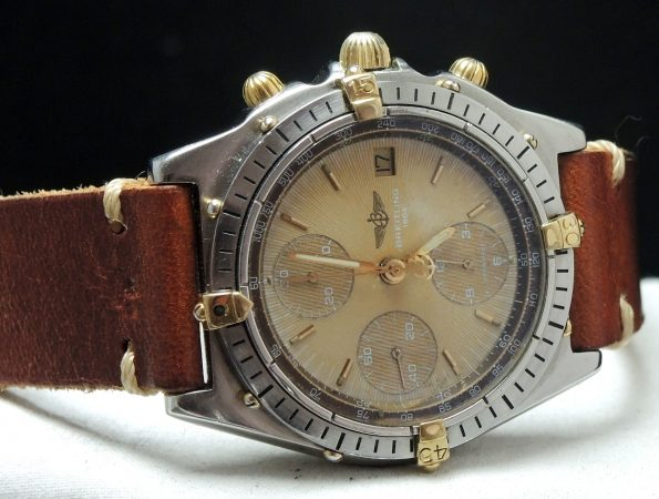 Genuine Breitling Chronomat structured cream dial vintage