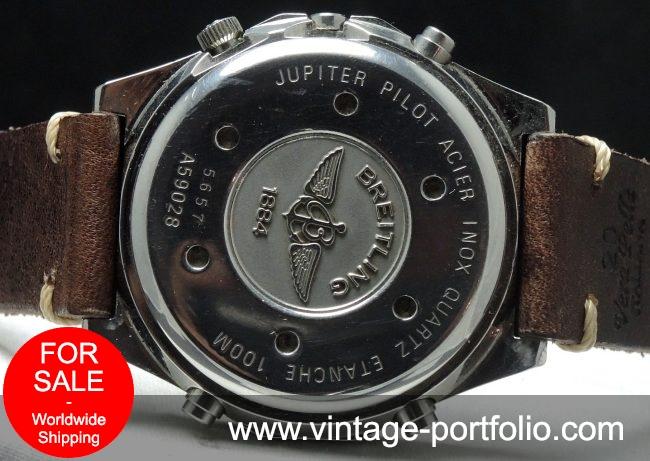 Breitling Jupiter Piot Quartz Quarz Chronograph with Vintage Ecru Strap