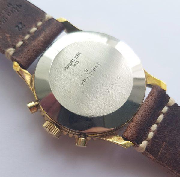 Serviced  Breitling Old Navitimer 806 Vintage gold plated