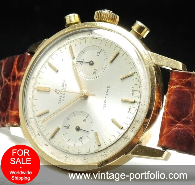 Rare Vintage Breitling Top Time solid gold Chronograph