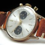 Pink Gold Plated Vintage Breitling Top Time Panda Dial