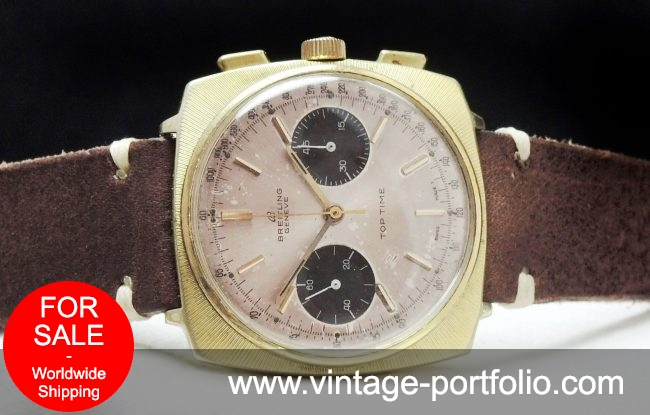 Breitling Top Time 37mm Panda Dial Gold Plated Chronograph