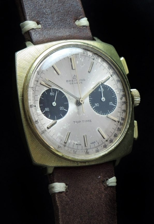 Breitling Top Time 37mm Panda Dial Gold Plated