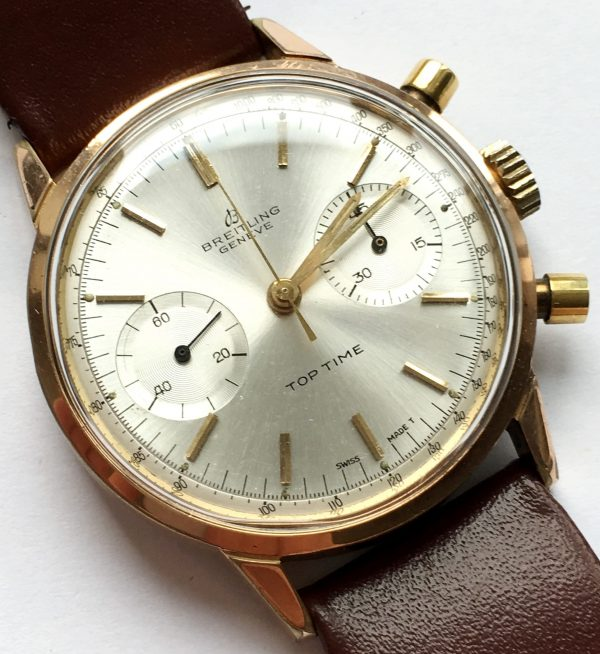 Serviced pink gold plated Breitling Top Time rare
