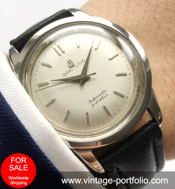 Rare Breitling Vintage Automatic Steel