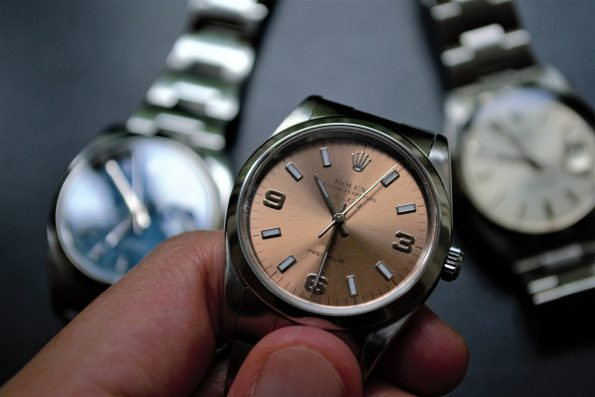 Wonderful Rolex Air King Rose Dial ref 14000M Saphirglas
