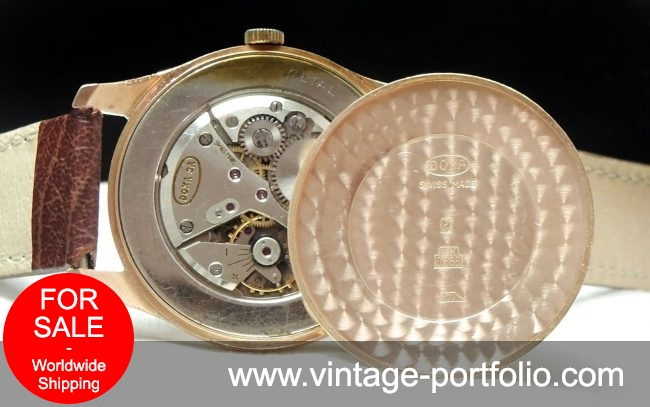 Serviced 35mm Doxa in Solid Pink Gold Case