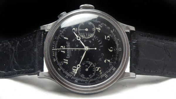 40mm black Enamel dial Eberhard Chronograph