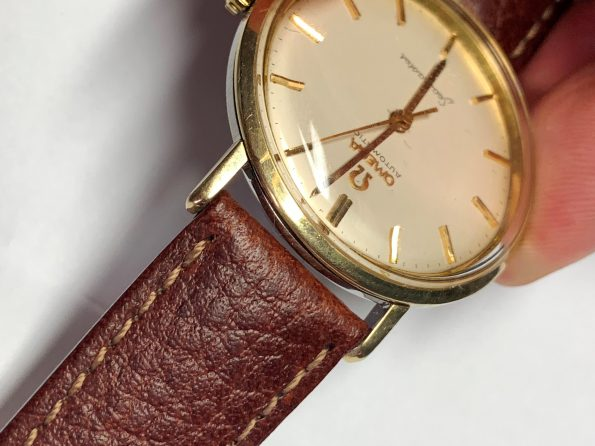 Wonderful Pre Omega Seamaster De Ville Automatic Gold Plated