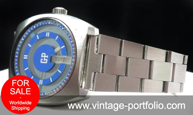 Superrare Girard Perregaux Mystery watch with blue dial