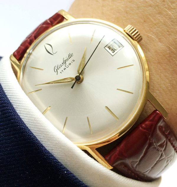 Perfectly restored Vintage Glashütte Watch with Date