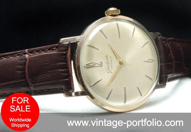 Wunderful pink rose gold plated Glashütte Watch 36mm